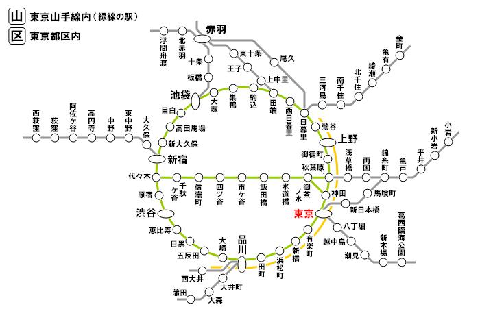 東京都区内・山手線内(特定都区市内)