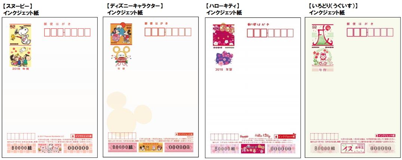 2018年商品ラインナップ(スヌーピー・ディズニー・ハローキティ・うぐいす)