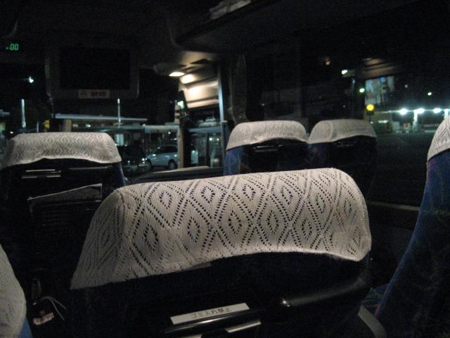 夜行バスの車内
