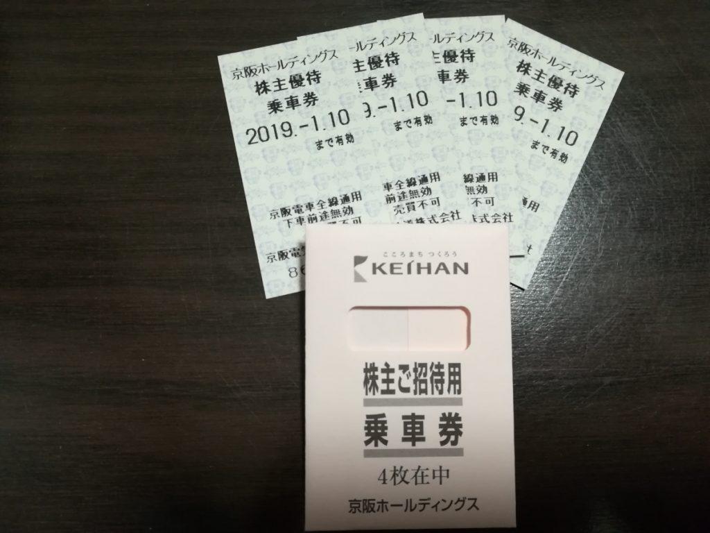 京阪電気鉄道株主優待券(切符タイプ)見本